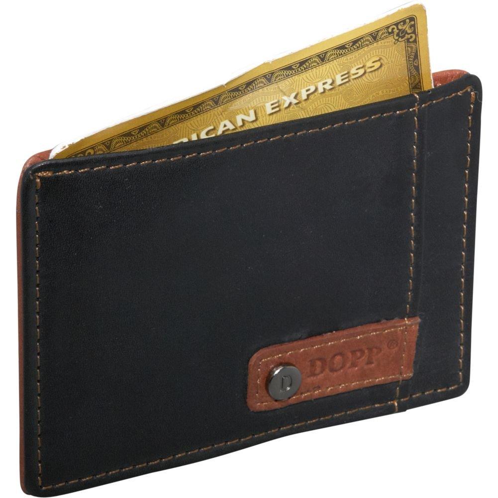 64526666d919 DOPP Mens Leather Slim Front Pocket Card Case Travel Wallet, Black ...