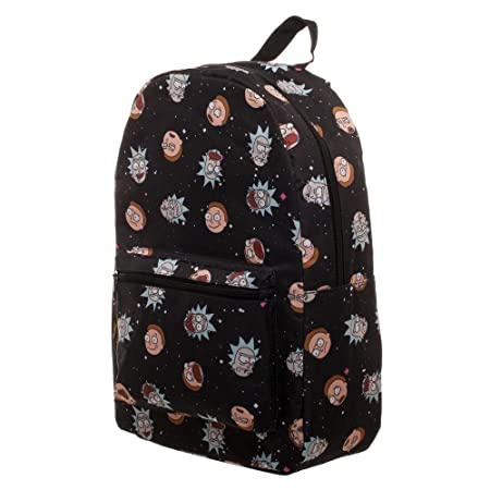 RIck and Morty Space Heads All Over print Backpack