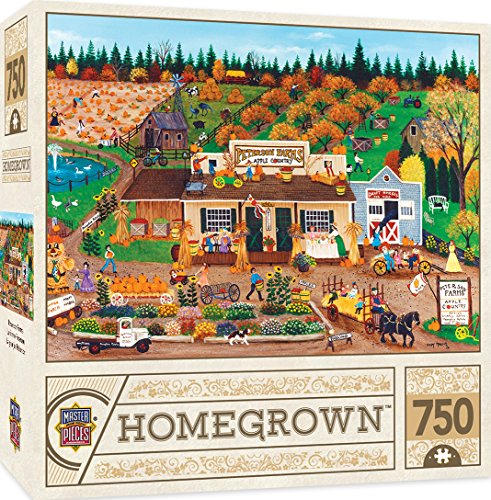 (MasterPieces 31802 Homegrown Peterson Farms Country Farm Store Linen Jigsaw Puzzle by Cindy Mangutz, 750-Piece, 18