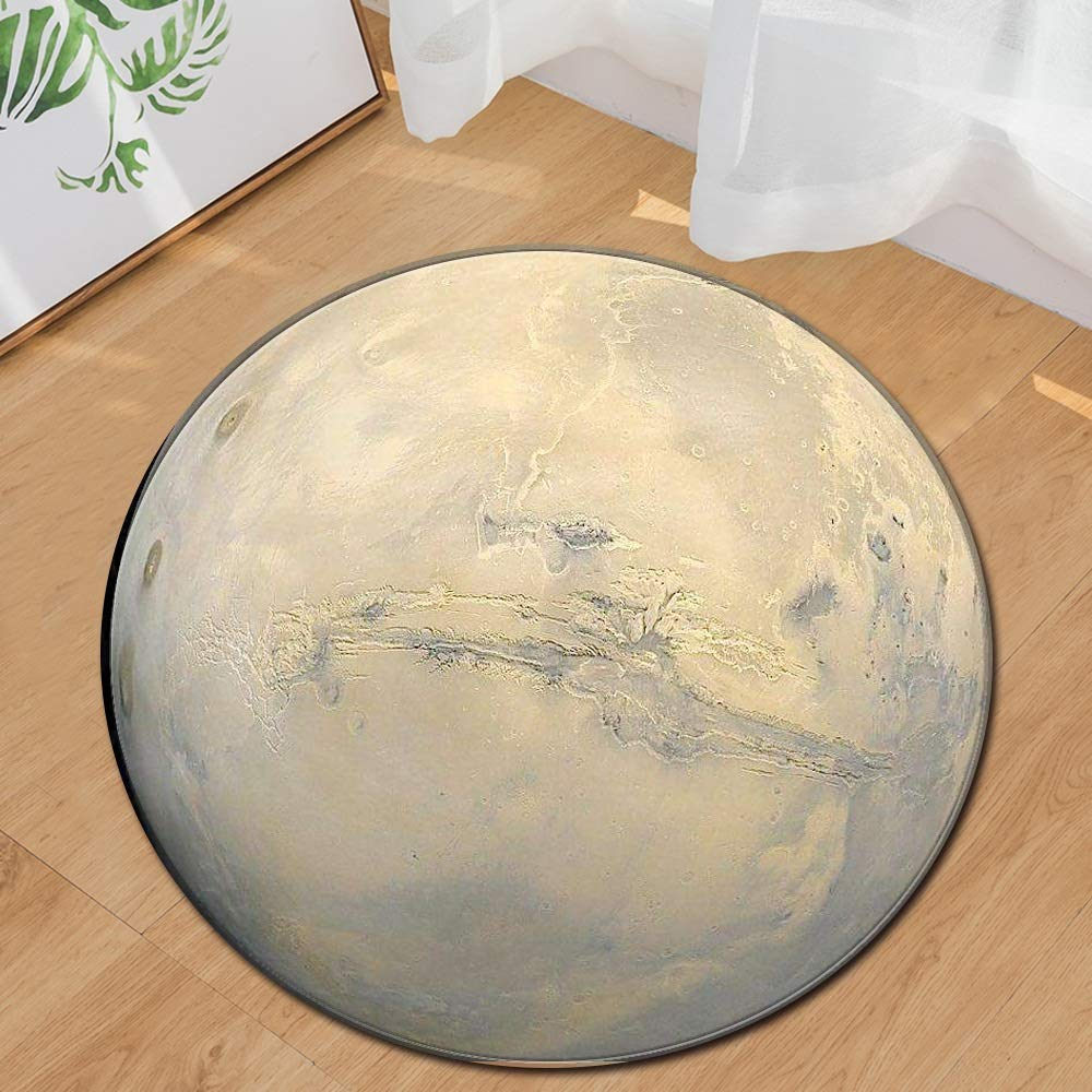 ZCXBB Modern Household Non-Slip Carpet Planet Round Rug Computer Chair Cushion Office Chair Mat Door Mat Carpet (Color : Gray, Size : XXL)
