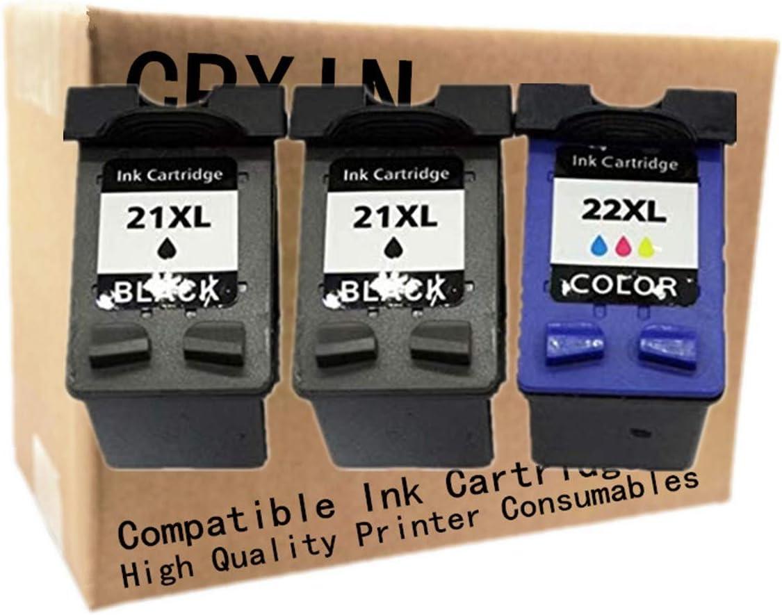 No-name Remanufactured Ink Cartridges Replacement for HP 21 22 XL 21XL HP21XL HP21 HP22 OfficeJet J3625 J3635 J3640 J3650 J3680 4315 4315v 4315xi 5600 5605 5610 5610v 5610xi J3608 (1 Set + 1 Color)