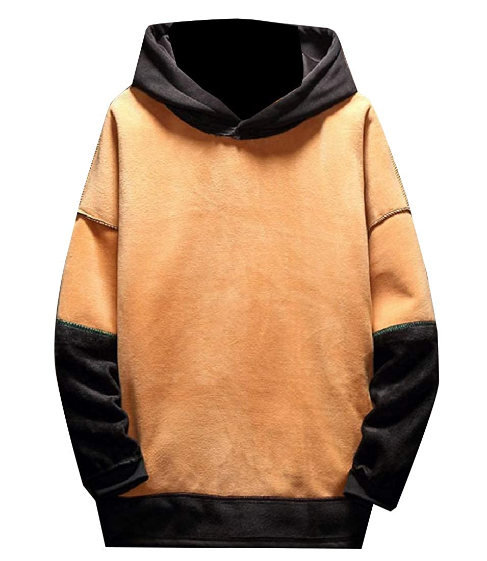 Zimaes-Men Pullover Camouflage Slim Fit Hooded Fleece Sweatshirts