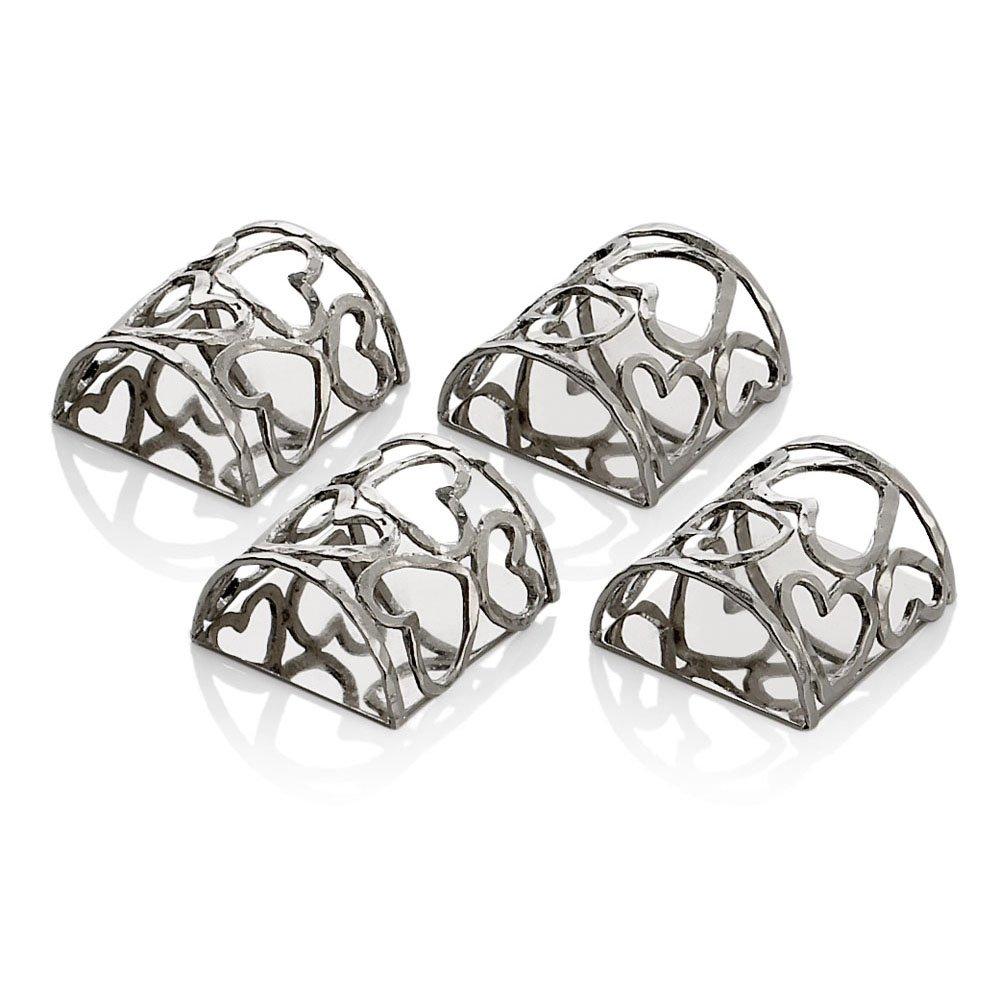 Michael Aram Heart Napkin Ring Set
