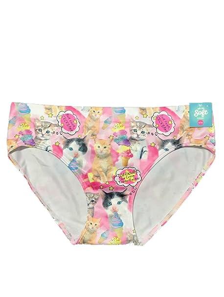 e3452a6c2785 Amazon.com: Justice Girls Cat & Ice Cream Seamless Bikini Panty 8/10 ...