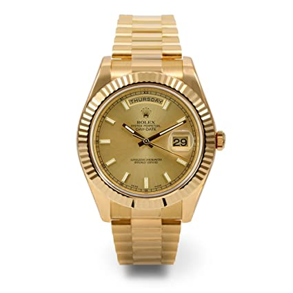 Amazon Com Rolex Day Date Ii Yellow Gold Watch 218238 Everything Else