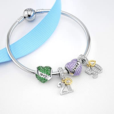 Buy Dalaran Birthstone Charms Sterling Silver Happy Birthday Heart Bead Charm For Pandora Bracelet With Gift Box Online In Indonesia B087r883fp
