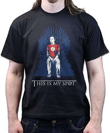 Sheldon Big Bang Theory IT/'S MY SPOT Game of Thrones Mens T-Shirt Funny