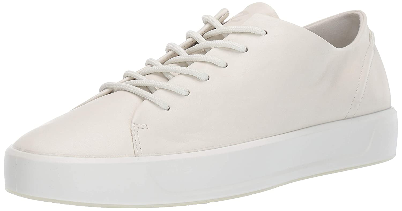 Shadow White Soft ECCO Mens Soft 8 Tie Sneaker