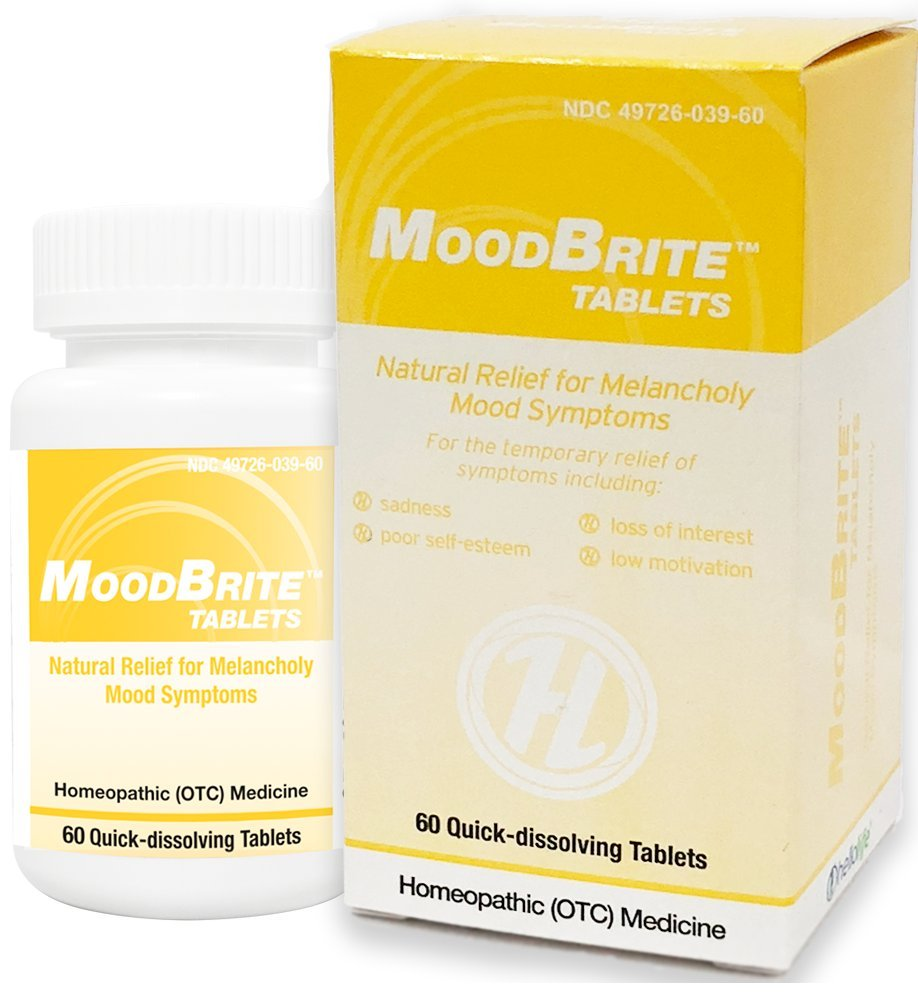 HelloLife MoodBrite Tablets - Natural Homeopathic for Relief of Depressive Moods by Hello Life