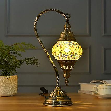Uonlytech Lámpara de Mesa marroquí, Luces de Mesa de Vidrio de ...