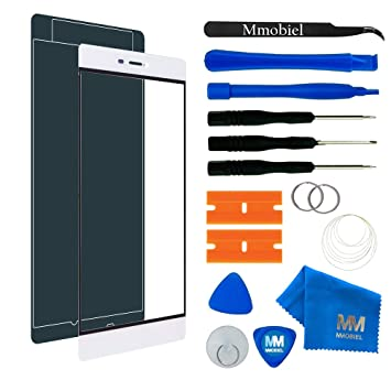 MMOBIEL Kit de Reemplazo de Pantalla Táctil para Huawei P8 (Blanco) Incluye Pantalla de Vidrio/Cinta Adhesiva de 2 mm/Kit de Herramientas/Limpiador ...