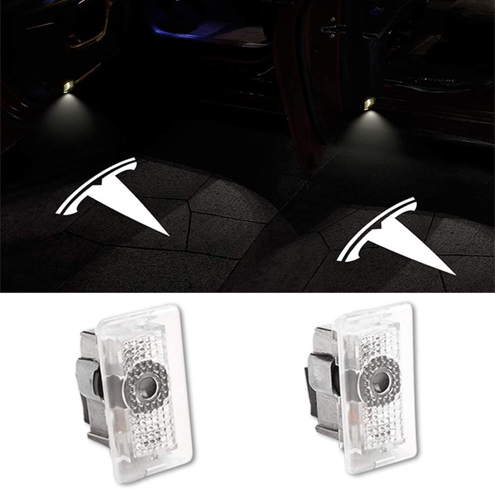 Bailunte Car Door Light Logo Projector Ghost Shadow Welcome Lights for Tesla Compatible Tesla Model 3 Model S Model X Series Accessories(2-Pack)