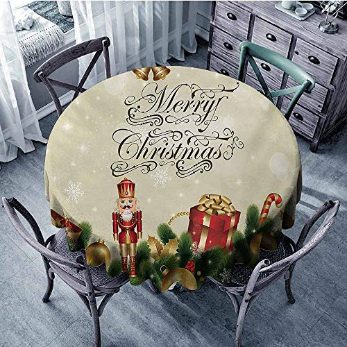 - HeKua Christmas,Tabletop Decoration Round Tablecloth D 70