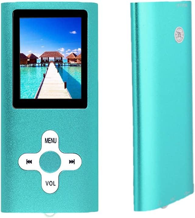 Support UP to 64GB TF Card RHDTShop MP3 MP4 Player with a 16 GB Micro SD Card Portable Digital Music Player//Video//E-Book Reader Rechargeable Battery Ultra Slim 1.7 LCD Screen Clearblue