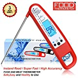 #8: Meat Thermometer Food Thermometer Instant Read Thermometer BBQ Thermometer Grill Thermometer High Accuracy Kitchen Thermometer Digital Thermometer Cooking Thermometer for BBQ Oven Grill Candy Milk