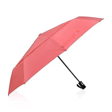 Paraguas Plegable DreamTECH De 8 Varillas Y Con Sistema Automático Para Abrir Y Cerrar Salmón/