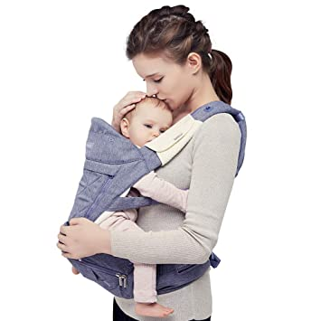 ca77e1a3993 Bebamour Ergonomic Baby Carrier Hip Seat All Seasons Baby Sling Backpack