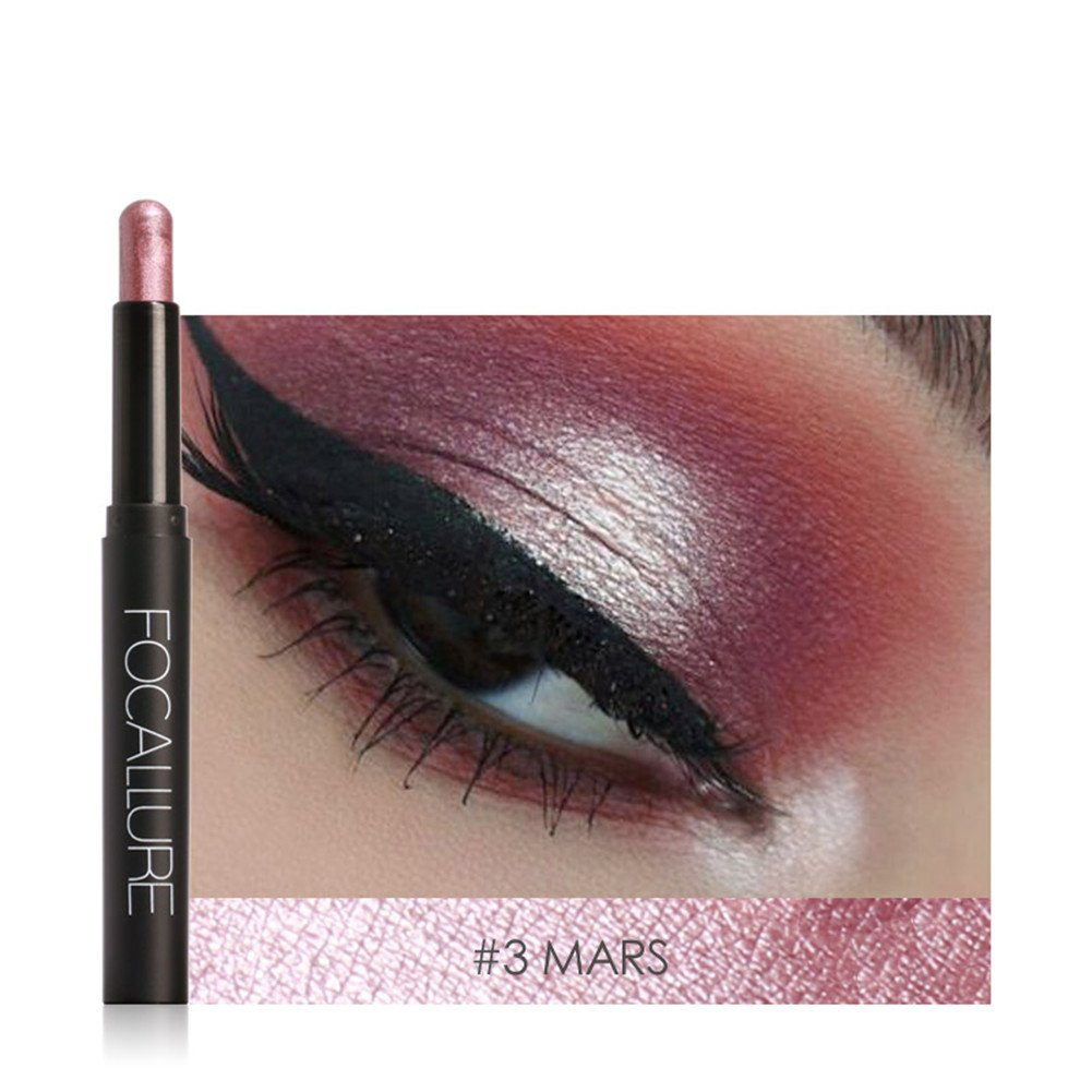 Make-up Stift Lidschatten Pearlescent Eyeshadow Kosmetiks Smoky Lidschatten Wasserfest Langanhaltend greencolourful