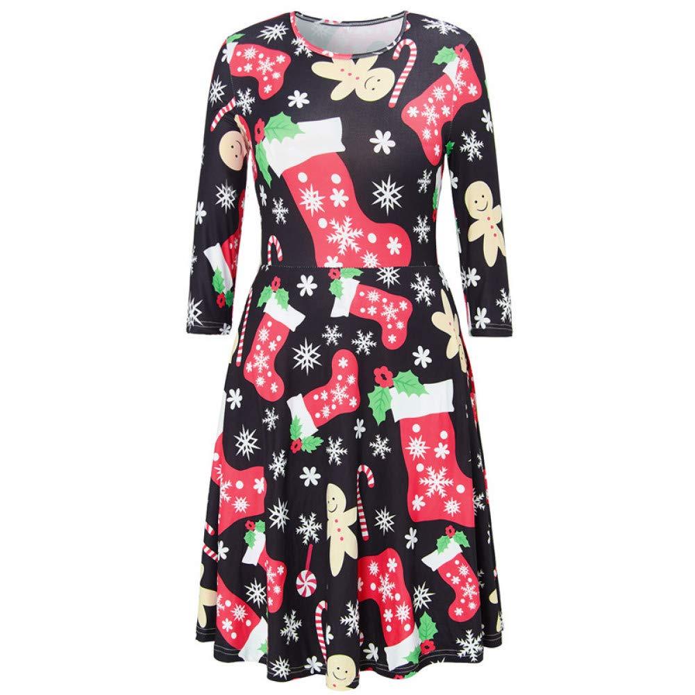 M XSY Robe de Femme Mignonne imprimée Moche décontractée Robe de soirée décontractée, Plus la Taille