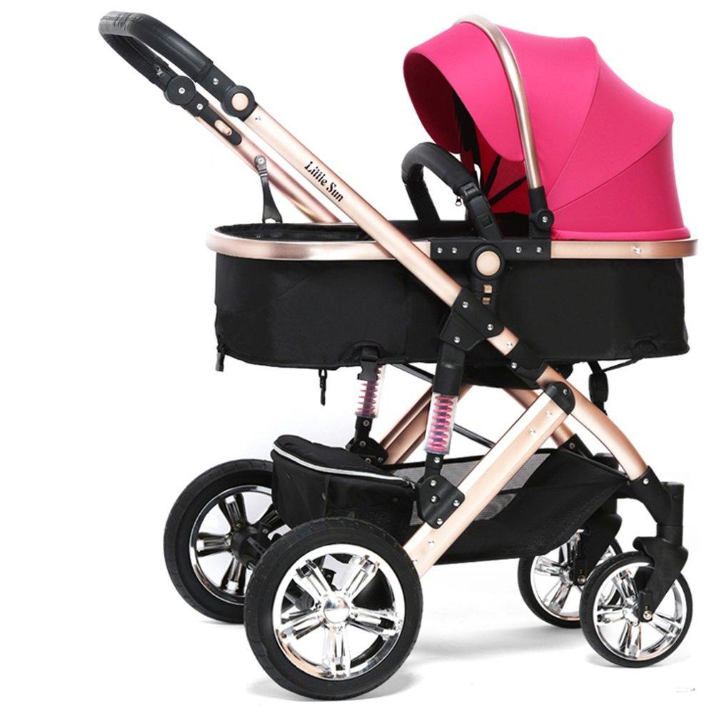 Carruajes de bebé, se puede sentar en carritos, los carros de los niños de verano, luz plegable cochecito de bebé (Color : Pink) : Amazon.es: Juguetes y ...