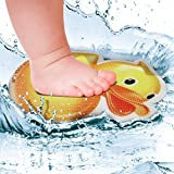 SlipRx USA Nonslip Bathtub Or Shower Stickers Safety Adhesive Duck   Non-Toxic, Anti-Bacterial, Mold and Mildew Resistant, Antislip Surface Area-6'' Diameter Mat   Rubber Ducky