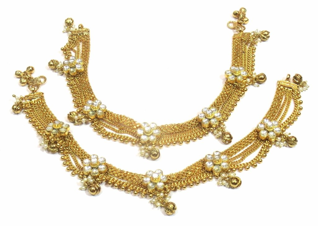 Jewelshingar Jewellery Exclusive Payal /Anklet /Pajeb For Girls ( 33202-payal )
