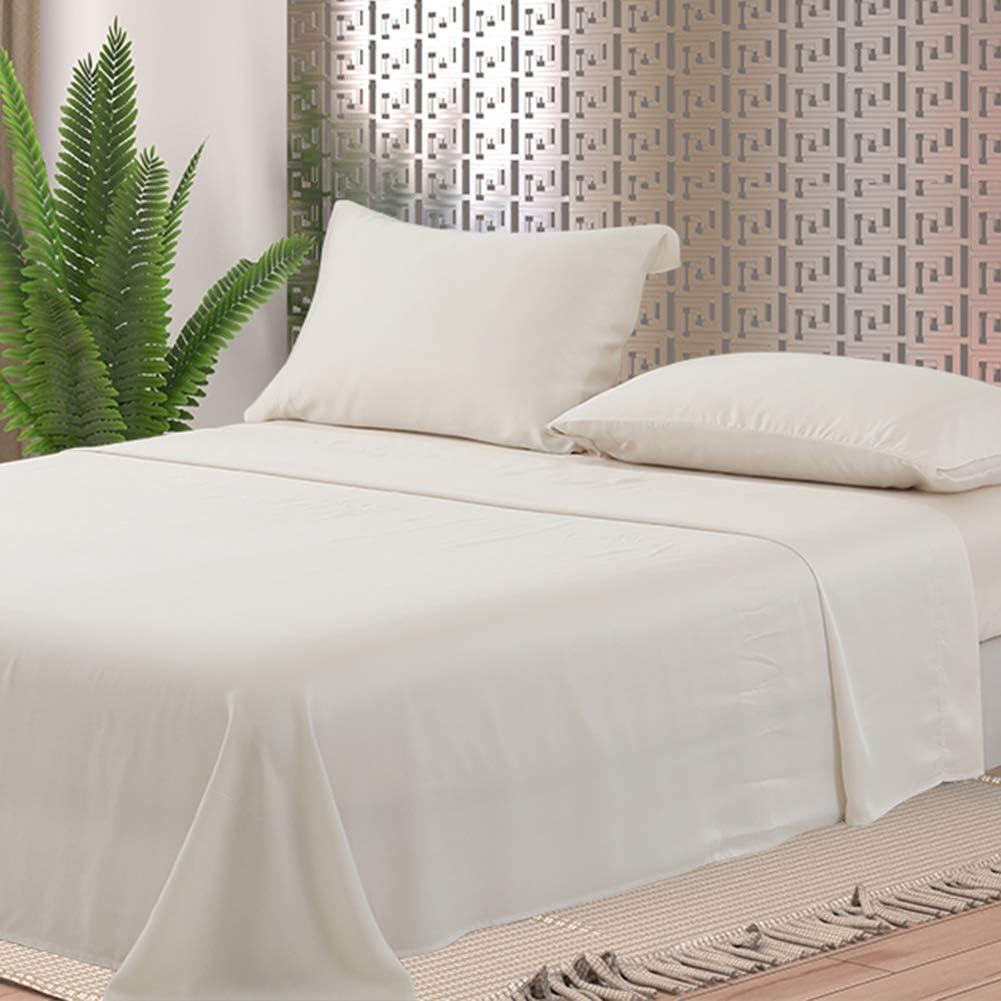 Luxury Tencel Lyocell Sheets, 4 Piece Bed Sheet Set Deep Pocket