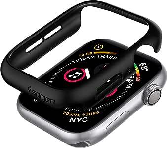 Spigen Thin Fit Designed for Apple Watch Case for 44mm Series 6/SE/5/4 - Black