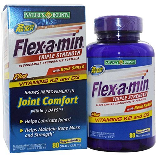 Natures Bounty Flex-a-min Triple Strength Formula mixte câblettes - 80 comprimés