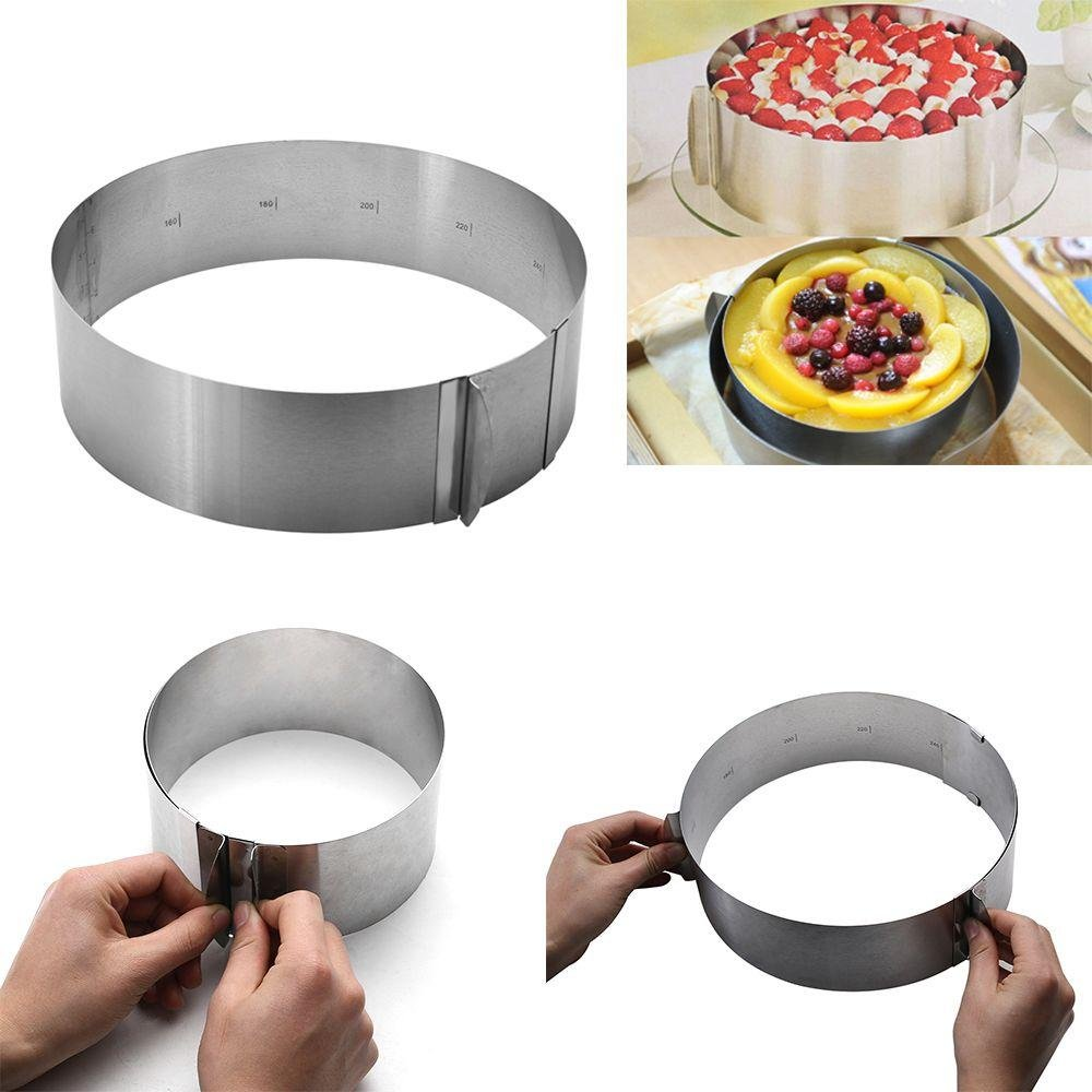 Unmengii Bakery Bakeware Stainless Steel Baking Tools Circle Mousse Ring Pastry Mold Cake Mould