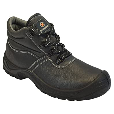 46aae766446 BARGAINS-GALORE Mens Safety Boots Leather Steel Toe CAPS Ankle Trainers  Hiking Shoes Size 6-13UK
