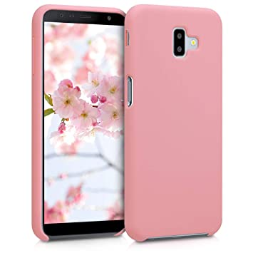 kwmobile Funda para Samsung Galaxy J6+ / J6 Plus DUOS - Carcasa de TPU para teléfono móvil - Cover Trasero en Rosa Pastel Mate