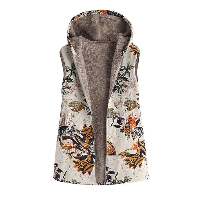Abrigo Invierno Mujer Chaqueta Suéter Jersey Mujer Cardigan Mujer Tallas Grandes Outwear Floral Bolsillos con Capucha de Impresión Caliente Sudadera: ...