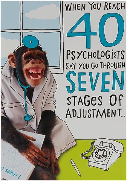 Amazon Com Hallmark 40th Birthday For Him Humour Embossed Effect Card Medium Office Products
