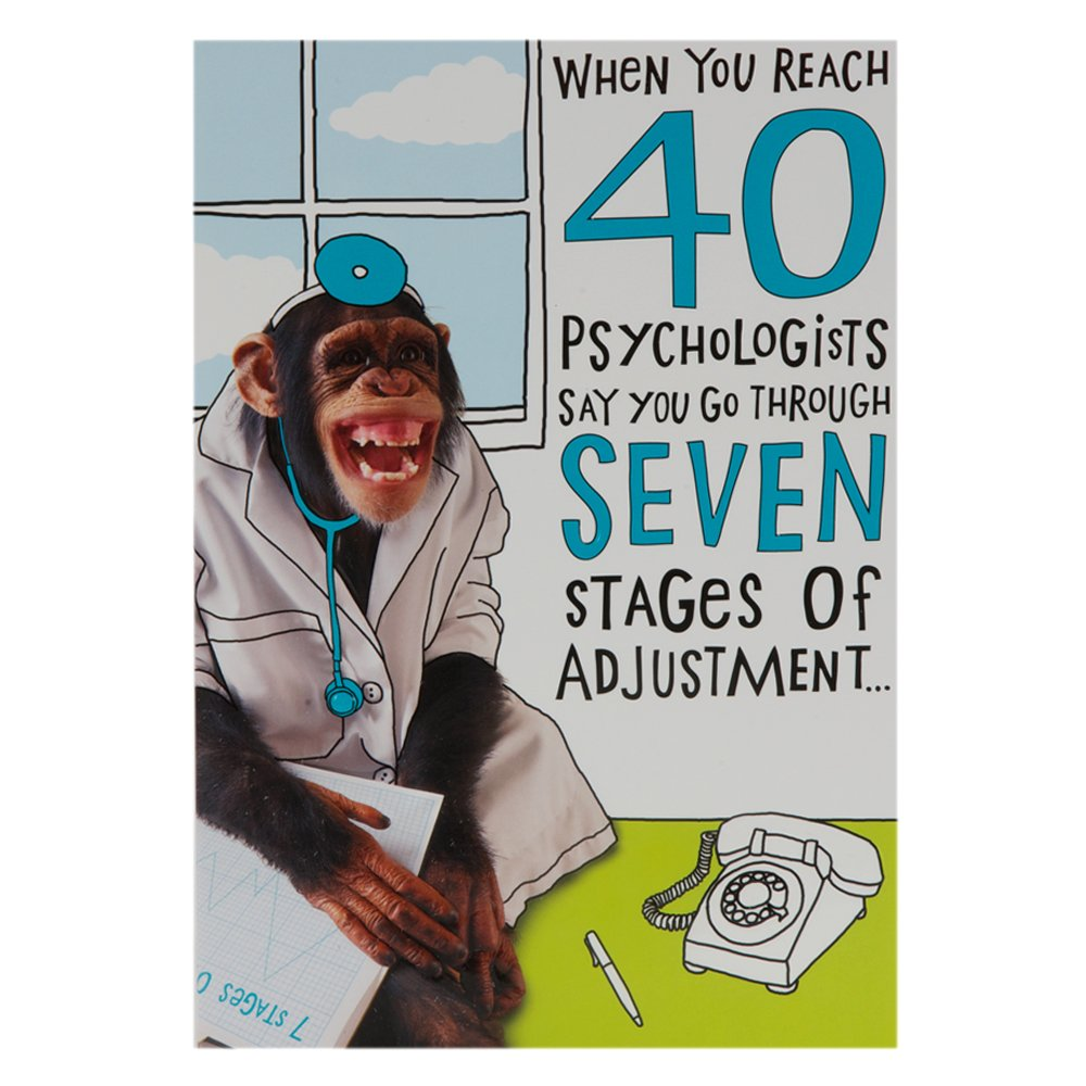 Hallmark 40th Birthday Card for Him Funny Monkey Medium Amazon – 40 Birthday Cards