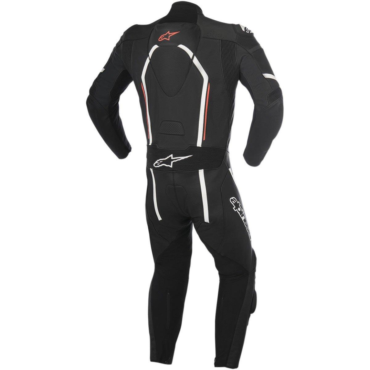 Alpinestars Montegi V2 Men's 1-Piece Street Motorcycle Race Suits - Black/White/Red / 56 by Alpinestars (Image #1)