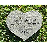 Heart Shape Dog Paw Print Memory Stone Pet Bereavement Gift You Have Left My Side But You Will Never Leave My Heart Pawprints