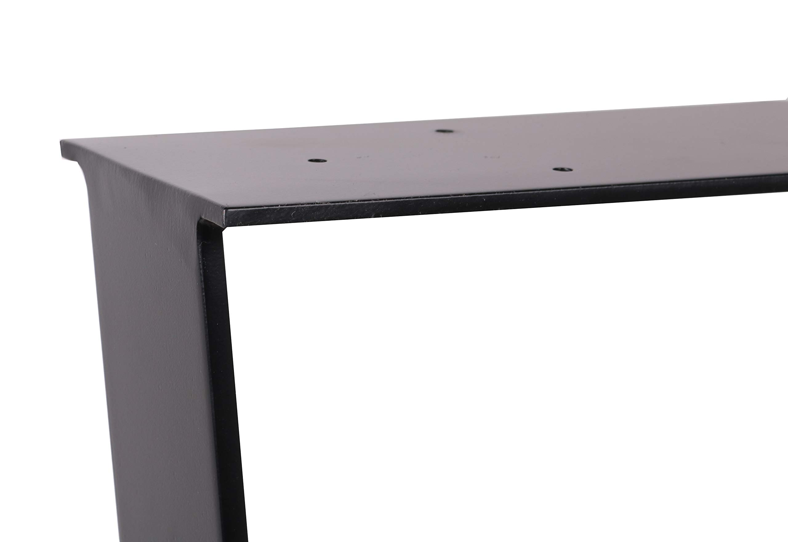 2 x 28'' Trapezoid Shaped Dining Table Legs, Heavy Duty Inverted trapezoidal Steel table legs, Office Table Legs,Computer Desk Legs,Industrial kitchen table legs,Country Style Table Legs,Set of 2,Black by ECLV (Image #7)
