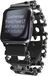 BestTechTool Watch Adapter Compatible with LEATHERMAN Tread LT - BTT Adapter (Compatible with Apple Watch 44mm/ 42mm, Black, Tread LT)