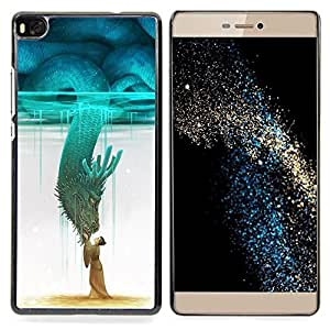 "Planetar ( Koi Pond Japón Minimalismo Naturaleza"" ) Huawei Ascend P8 (Not for P8 Lite) Fundas Cover Cubre Hard Case Cover"