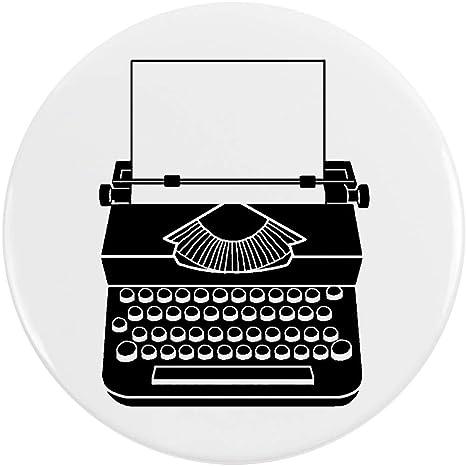 Azeeda 77mm Máquina de Escribir Insignia de Botón Pin (BB00003562)