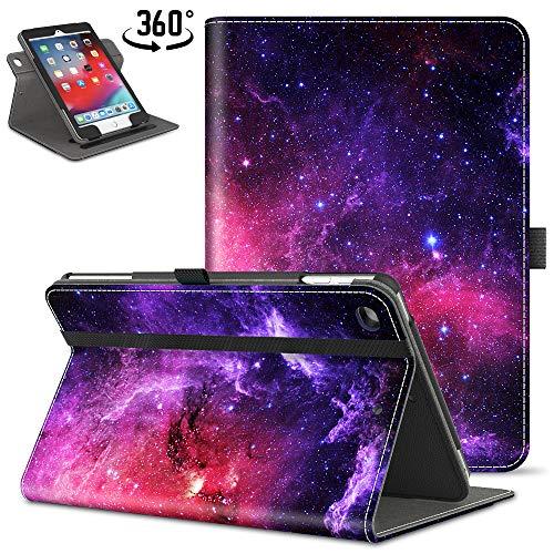 VORI iPad 9.7 2018 2017 / iPad Air 2 / iPad Air Case, [360 Degree Rotating] Leather Folio Stand Case Smart Protective Cover with Auto Wake/Sleep, Nebula Galaxy