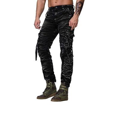Pantalones Cortos Hombre Vaqueros Verano Moda Regular Fit ...
