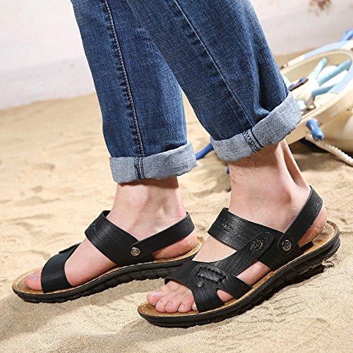 estate Il nuovo Uomini sandali Spiaggia scarpa Uomini scarpa sandali Doppio uso moda traspirante Tempo libero sandali ,nero,US=10,UK=9.5,EU=44,CN=46