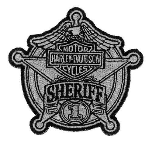 Harley-Davidson Sheriff Silver Patch, Small 3-15/16'' W x 3-3/4'' H EM1264752 (Harley Davidson Sheriff Decal compare prices)