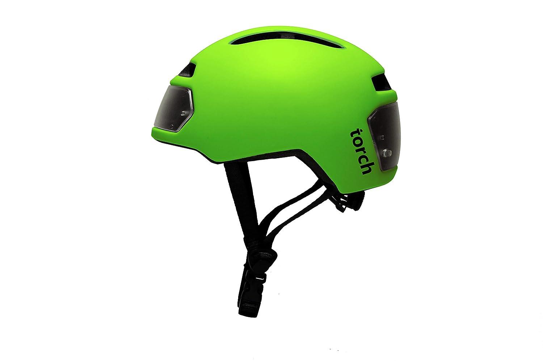 Torch T2 Fahrradhelm Mit Integriertem Licht kühles Grün