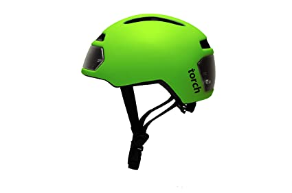 c2d02d2cb7916 Amazon.com   TORCH APPAREL T2 Bike Helmet with Front and Rear LED ...