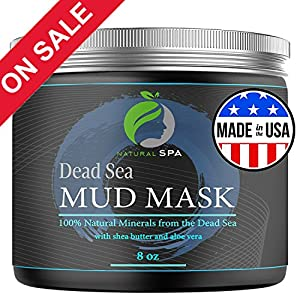Dead Sea Mud Mask - Natural Face Mask and Body Cleanser - Best Facial Treatment Pore Reducer & Minimizer Acne Blackheads & Oily Skin with Minerals USA Made 8 oz