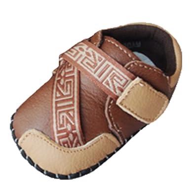 6ce3464e0e7b2 OHmais Enfants Chaussure Bebe Garcon Bebe Fille Premier Pas Chaussure  Premier Pas bébé Sandale en Cuir Souple  Amazon.fr  Chaussures et Sacs