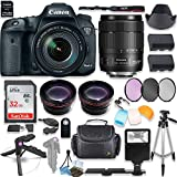 Canon EOS 7D Mark II DSLR Camera with Canon 18-135mm USM Lens Kit + 0.43x Wide Angle Lens + 2x Telephoto Lens + 32GB SD Memory Card + HD Filter Kit + Flash Diffusers + Full Premium Accessory Bundle
